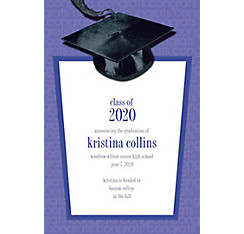 Custom Purple Congrats Grad Announcements