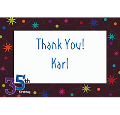 The Party Continues 35 Custom Thank You Note