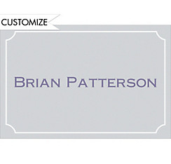 Custom Gray Formal Corners Graduation Thank You Notes