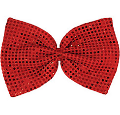 Red Sequin Christmas Bow Tie