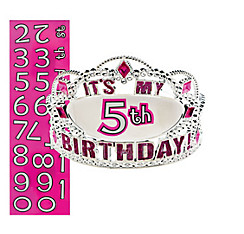 Child Personalized Happy Birthday Tiara Kit