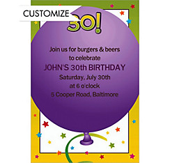 Life is Great 30 Custom Invitation