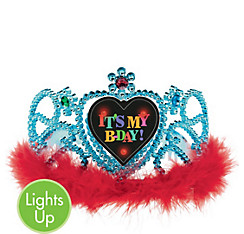 Light-Up Happy Birthday Tiara - Rainbow Dot