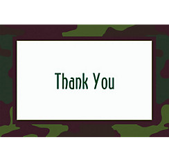 Camouflage Welcome Home Custom Thank You Note