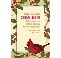 Holiday Tidings Custom Christmas Invitation