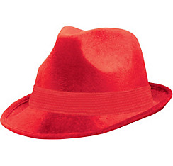 Red Suede Fedora