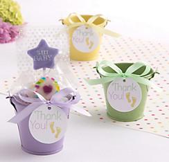 Pastel Baby Shower Mini Pail Favor Kit 18ct