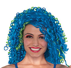 Blue Clown Wig