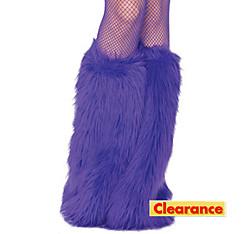 Adult Purple Furry Leg Warmers