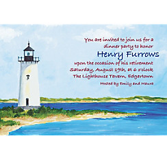 Classic Lighthouse Custom Invitation
