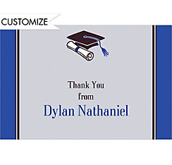 Colorblock Class Stripe Custom Thank You Notes
