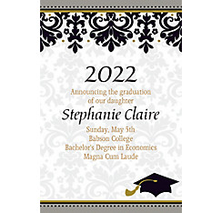 Custom Black & White Graduation Announcements