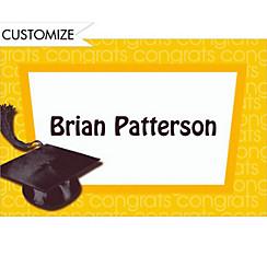 Yellow Congrats Grad Custom Thank You Notes