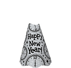 Glitter Silver New Year's Cone Hat
