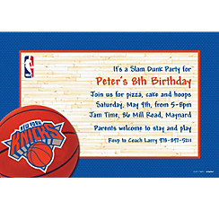 New York Knicks Custom Invitation