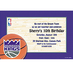 Sacramento Kings Custom Invitation