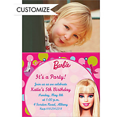 Barbie Custom Photo Invitation
