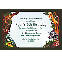 Jungle Safari Custom Invitation