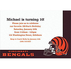 Cincinnati Bengals Custom Invitation