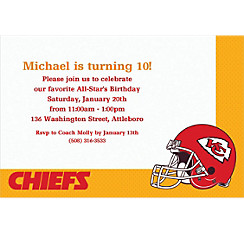 Kansas City Chiefs Custom Invitation