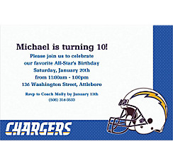San Diego Chargers Custom Invitation