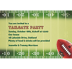 NFL Drive Custom Invitation