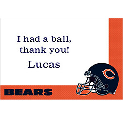 Chicago Bears Custom Thank You Note