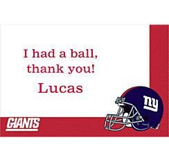 New York Giants Custom Thank You Note
