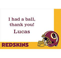Washington Redskins Custom Thank You Note