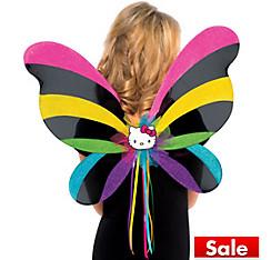 Girls Rainbow Hello Kitty Wings