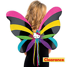 Girls Rainbow Hello Kitty Wings