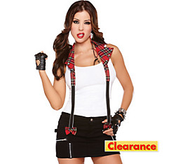 Rebel Red Plaid Halter Suspenders