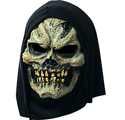 Hooded Plague Skull Mask