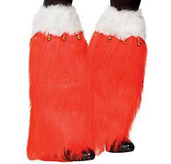 Christmas Furry Leg Warmers