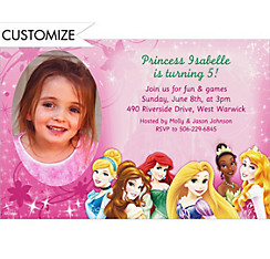 Disney Princess Sparkle Custom Photo Invitation