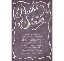 Chalkboard Custom Bridal Shower Invitation