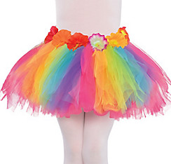 Child Hibiscus Rainbow Hula Tutu