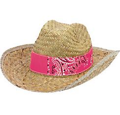 Paisley Band Straw Cowboy Hat