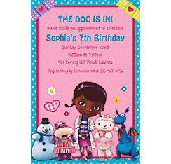 Doc McStuffins Custom Invitation