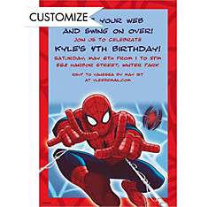 Ultimate Spider-Man Custom Invitation