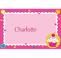 Cupcake Party Custom Thank You Note