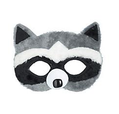 Child Plush Raccoon Mask