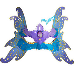 Alluring Feather Butterfly Mask