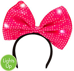 Light-Up Sequin Bow Headband