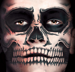 Skull Face Tattoo Kit - Day of the Dead