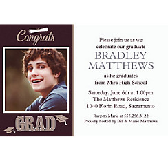 Custom Graduating Class Photo Invitations