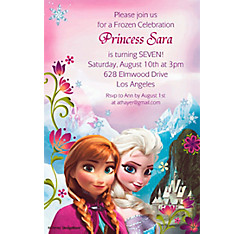 Frozen Custom Invitation