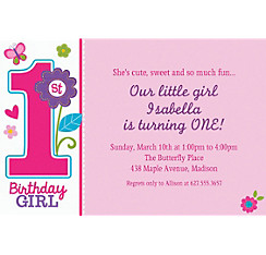 Sweet Birthday Girl Custom Invitation