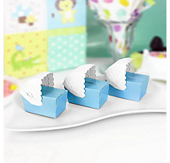 Blue Bassinet Baby Shower Favor Boxes 24ct