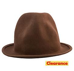 Brown Wool Happy Hat